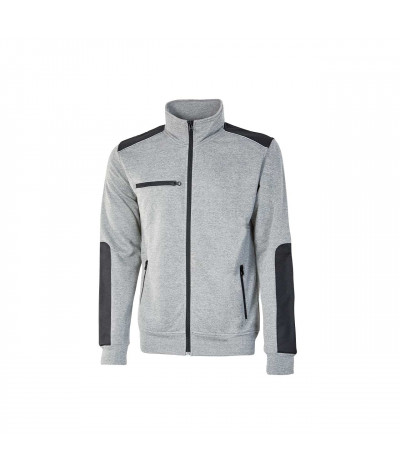 Felpa da lavoro full-zip U-Power Snug Grey Silver