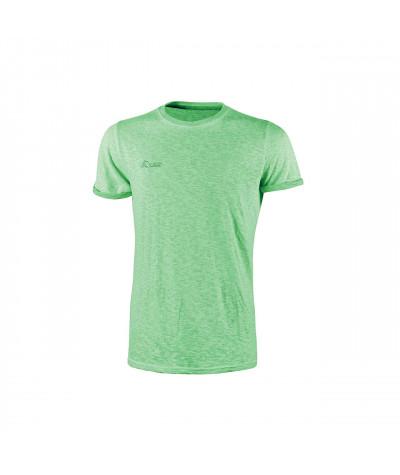 T-shirt da lavoro a manica corta U-Power Fluo Green