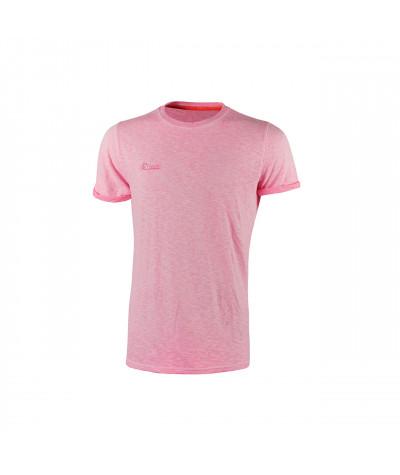 T-shirt da lavoro a manica corta U-Power Fluo Pink