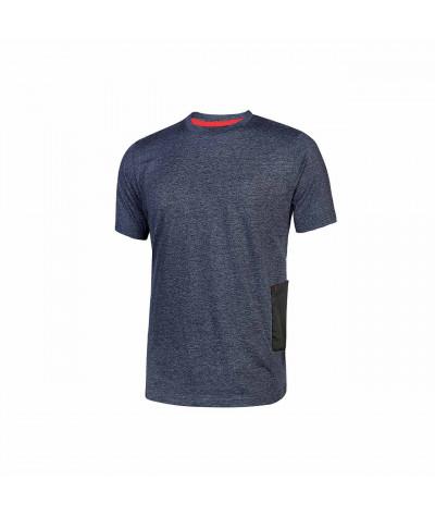T-shirt da lavoro a manica corta U-Power Road Deep Blue