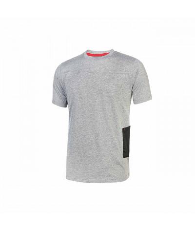 T-shirt da lavoro a manica corta U-Power Road Grey Silver