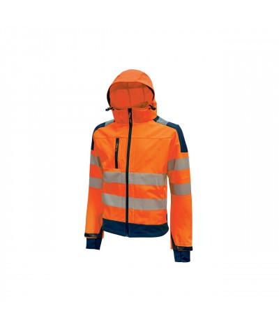 Giacca da lavoro in tessuto Soft Shell U-Power Miky Orange Fluo