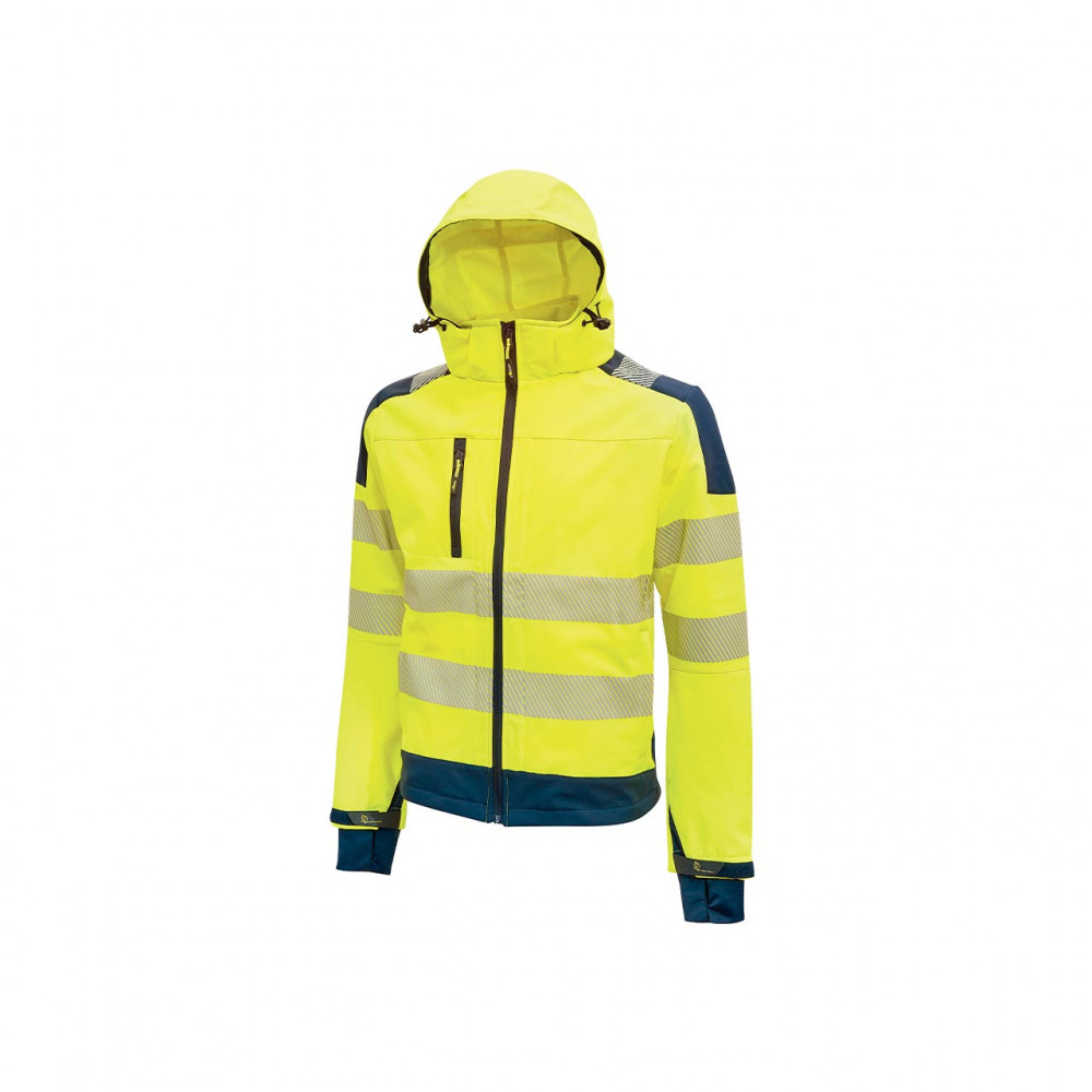 Giacca da lavoro in tessuto Soft Shell U-Power Miky Yellow Fluo