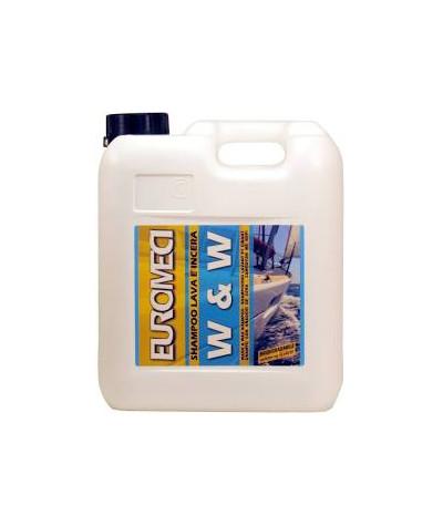 Wash & Wax Euromeci - Shampoo lava e incera 5 Lt