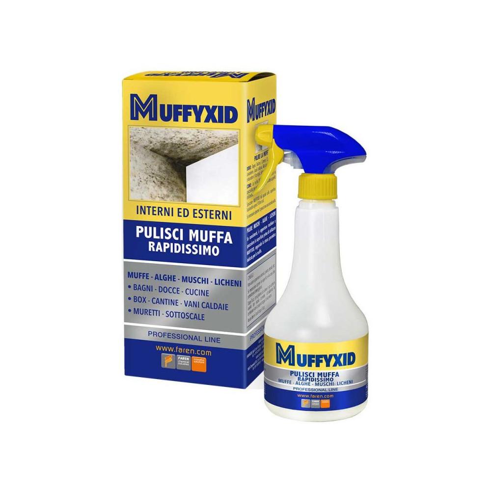 MUFFYCID MUFFIXID - pulisci muffa rapidissimo per interni ed esterni - FAREN - larosametalli.it