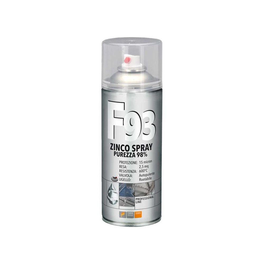 F93 ZINCO PROFESSIONALE Spray - FAREN - larosametalli.it