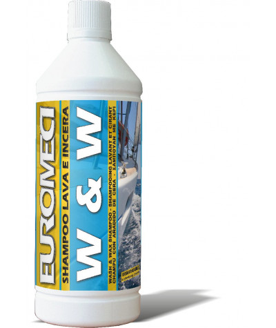 EUROMECI Whash & Wax Shampoo Lava e Incera - Brava - pulizia barche - larosametalli.it