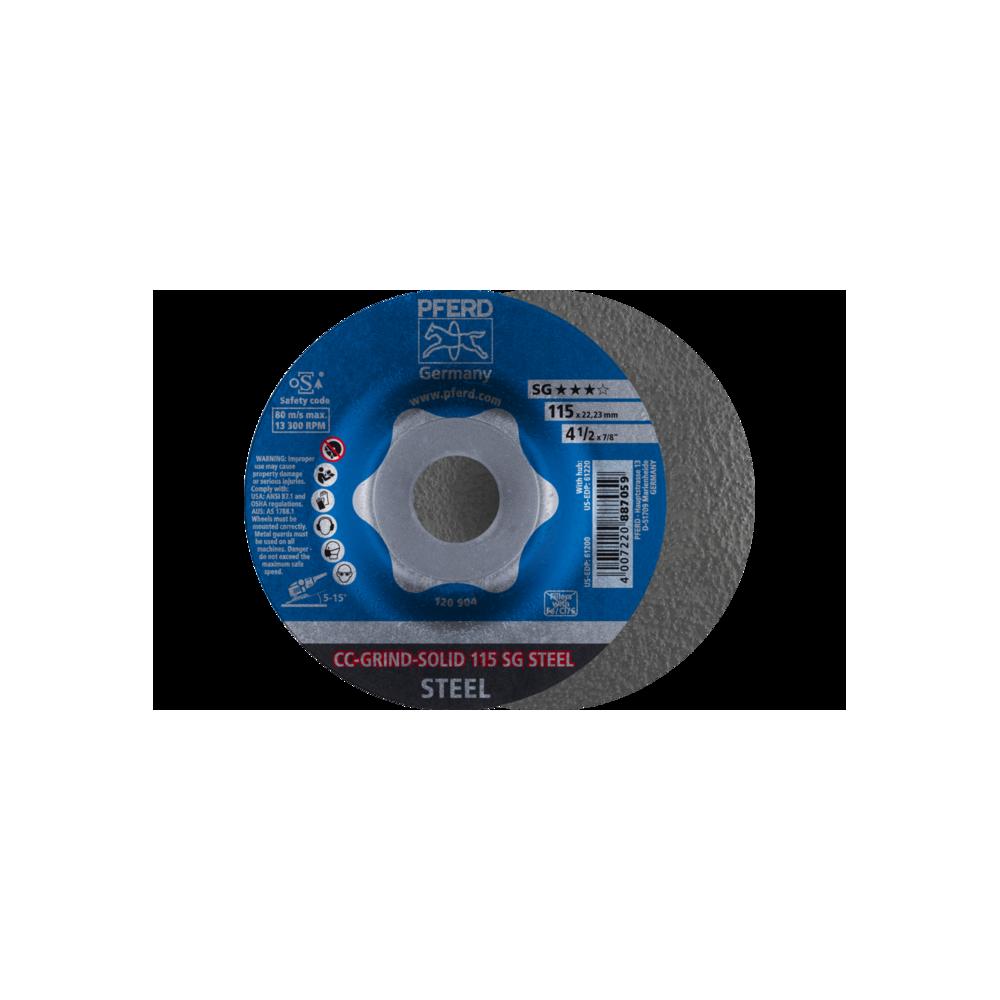 DISCHI DA SBAVO CC-GRIND-SOLID 115 SG STEEL per smerigliatrice angolare - PFERD - larosametalli.it