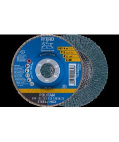 DISCO LAMELLARE PFF 115 Z 40 PSF STEELOX per smerigliatrice - PFERD