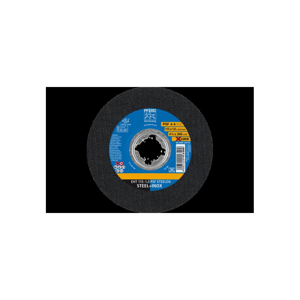 DISCO DA TAGLIO EHT 115-1,0 PSF STEELOX X LOCK per smerigliatrice angolare - PFERD