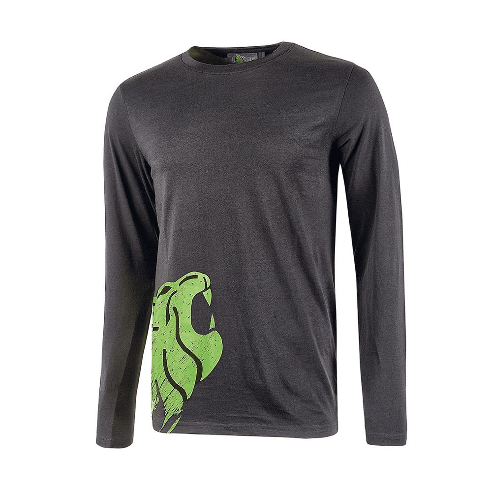T-shirt da lavoro a manica lunga U-Power Alien Asphalt Grey