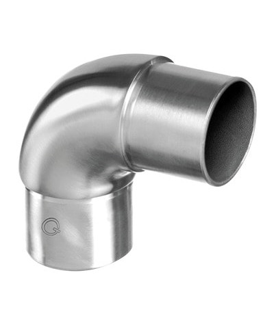 Curva in acciaio inox 90° Q-Railing disponibile sia lucida che satinata - La Rosa Metalli