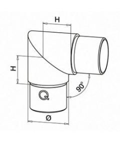 Raccordo in acciaio inox 90° Q-Railing
