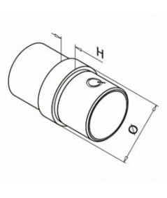 Connettore per allungare il tubo in acciaio inox Q-Railing Mod 0790 - larosametalli