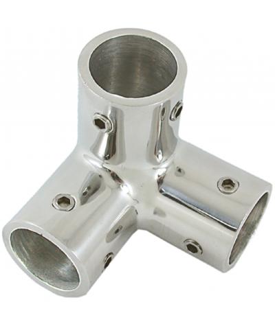Angolare corrimano 3 vie tubo da mm 22 - A4 AISI 316