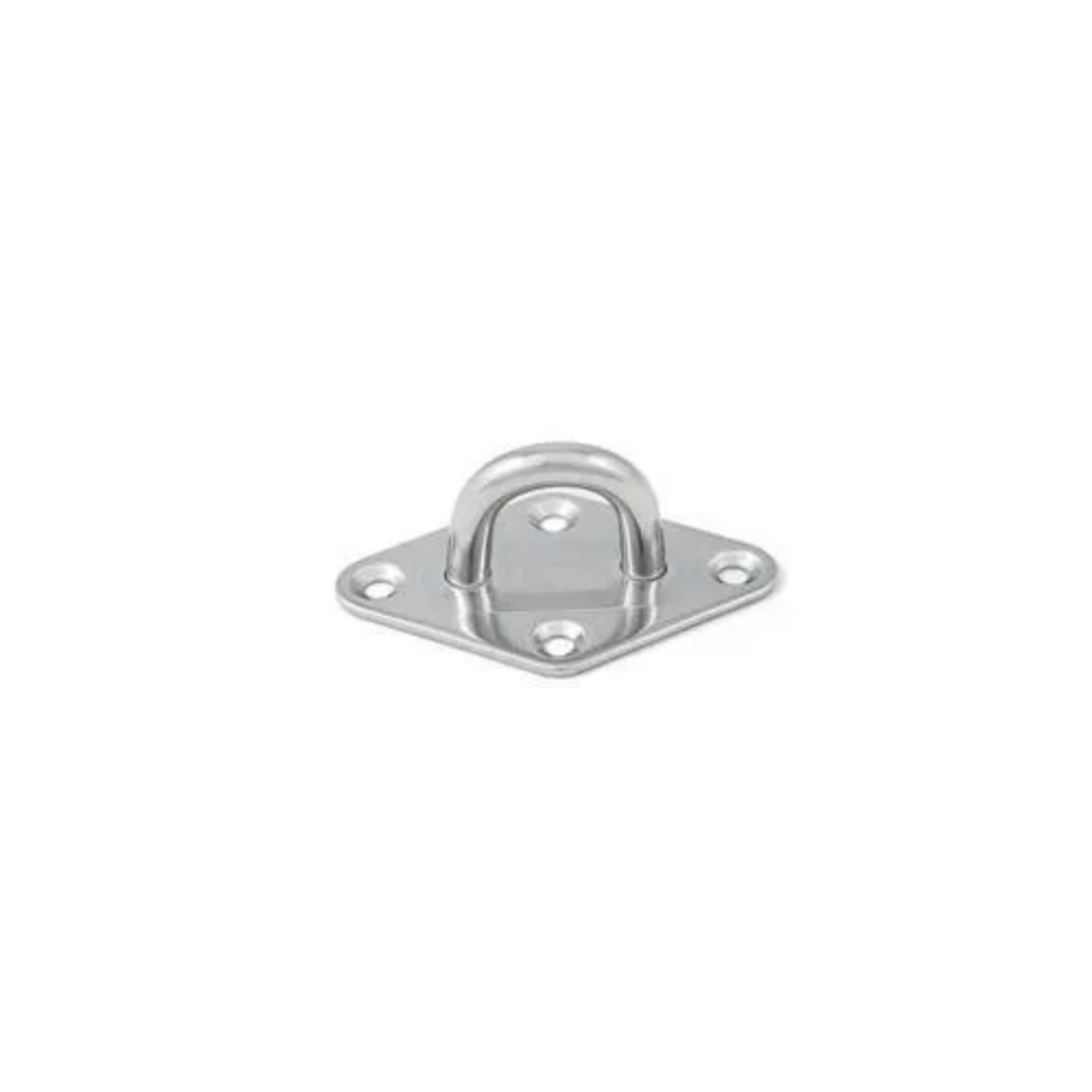 BASE A ROMBO CON ANELLO INOX MM.5 - A2 - AISI 304
