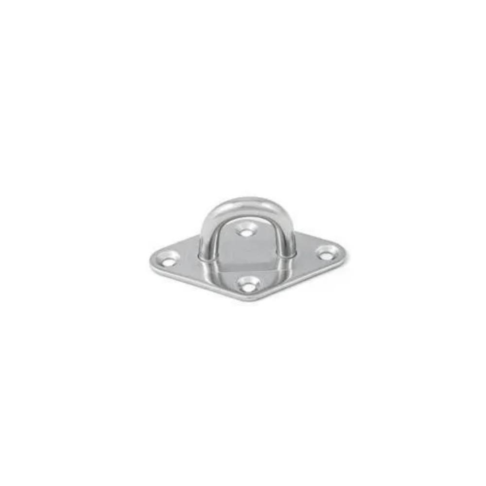 BASE A ROMBO CON ANELLO INOX MM.8 - A2 - AISI 304