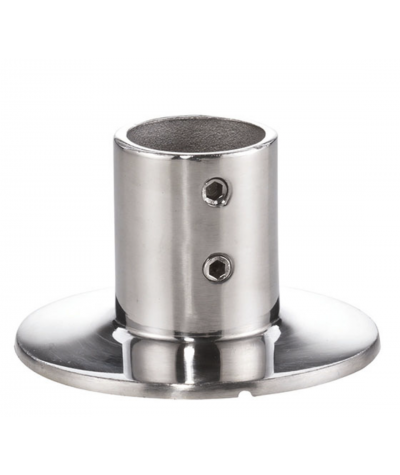 Basi corrimano e pulpito tonde 90° per tubo da 22 mm, microfusione, lucide aisi 316 / A4