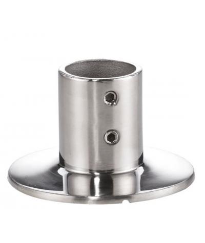 Basi corrimano e pulpito tonde 90°per tubo da 25 mm, microfusione, lucide aisi 316 / A4