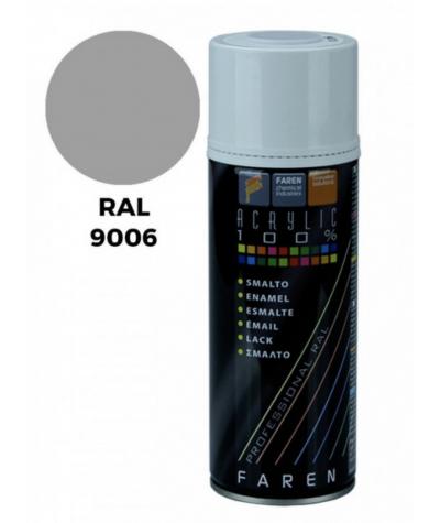 Bomboletta spray acrilico Faren RAL 9006 alluminio ruote 400 ml